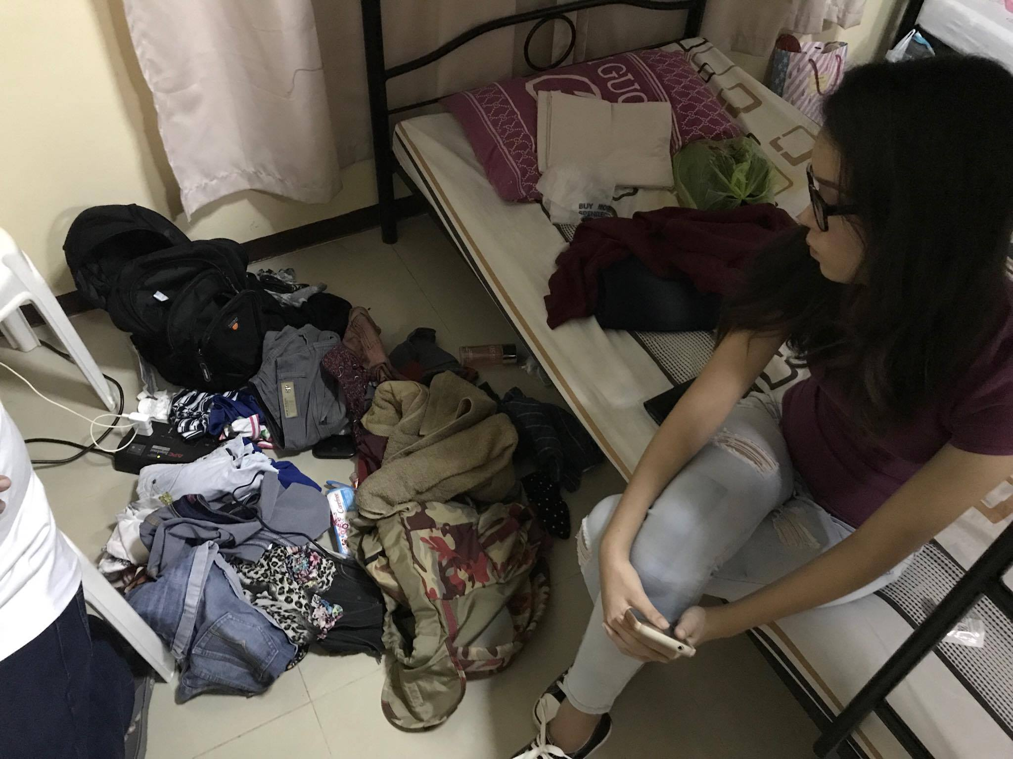 BURGLARIZED. Mr. SCUAA candidate, Reigndoulf Quirong's belongings strewn in the floor after being looted. Photo by Jed Asaph Cortes