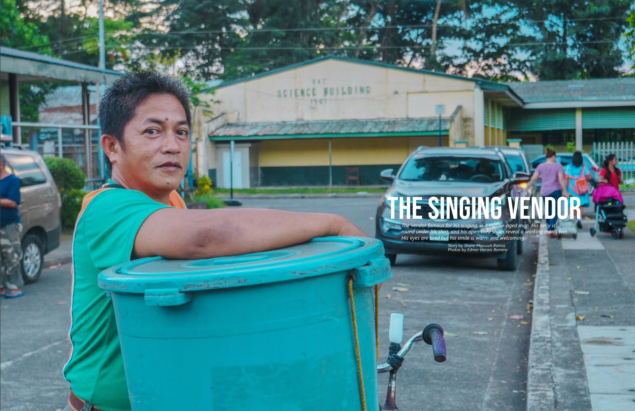 SINGING VENDOR. Borj's pride is his golden voice and delicacies packed with '1000 vitamins'.